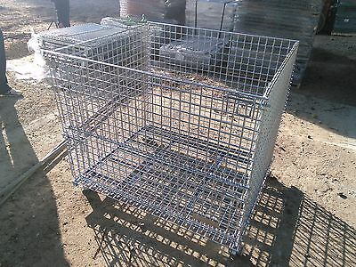 Collapsible Wired basket baskets metal steel