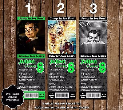 The Goosebumps Movie Birthday Party Invitation - 3 Designs - 20 Pack