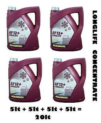 Mannol Germany 20Lt Concentrate Antifreeze / Summer Coolant Mixes With All Red