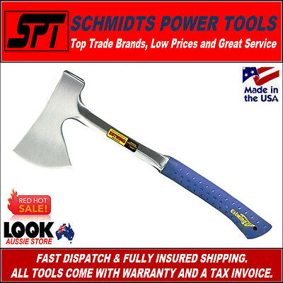 "Estwing E44A 16"" Sportmans Camping Axe With Sheath & Shock Reduction Handle New"
