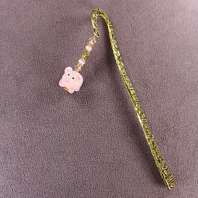 PIG TOTEM BOOKMARK Heart Wealth Love Luck Symbol Zodiac Sign Farm Animal Magick