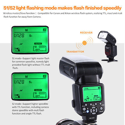 K&F Concept KF-590 EX E-TTL TTL Speedlite Flash Wireless Slave Unit for Canon