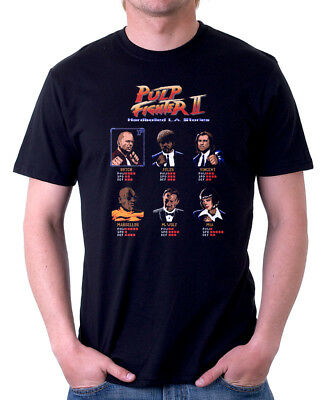 Pulp Fiction Street Fighter II inspired funny arcade cotton t-shirt FN9831