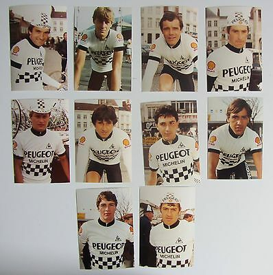 Equipe PEUGEOT SHELL 1983, 10  Photos originales Cyclisme.