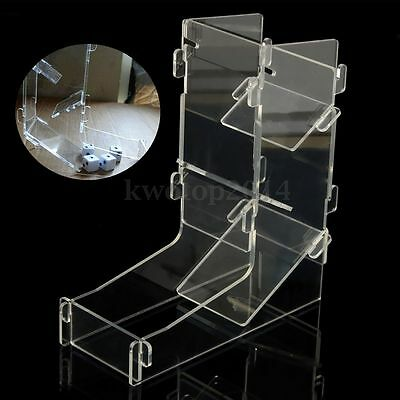 Mini Prism Gaming Dice Tower Transparent Clear Game Dices Toy 175*155*62mm NEW