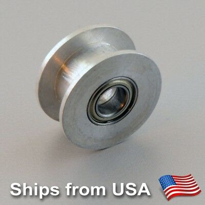 Aluminum Dual Ball Bearing Timing Belt Idler Pulley RepRap 3D printer 5mm Bore