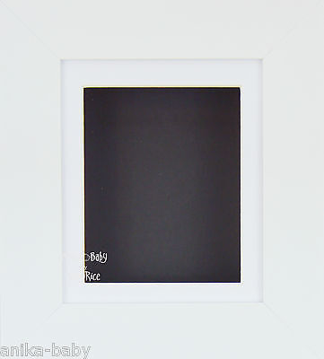 "New White Small 6x4"" Display Box Frame White mount Black backing Object Framing"