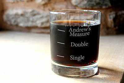 Personalised Glass Whisky Tumbler. Whiskey measures