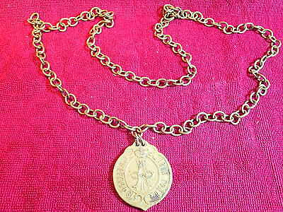 ORIGINAL 1866 ANTIQUE BRONZE MEDAL with CHAIN  IMPERIAL  RUSSIA RUSSIAN