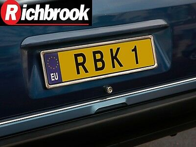 Richbrook Single Chrome Stainless Steel Car Number Plate Surround Frame Holder