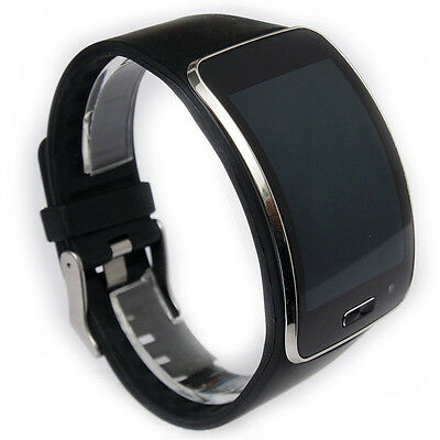 New Black Replacement Band With Metal Watch Clasp for Samsung Gear S Smart Watch