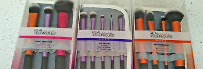 12 Makeup Brushes RT Real Techniques Core Collection Eyes Starter Kit Travel Set