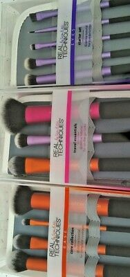 12 Brush Set Real Techniques Core Collection Eyes Starter Kit Travel Essential 3