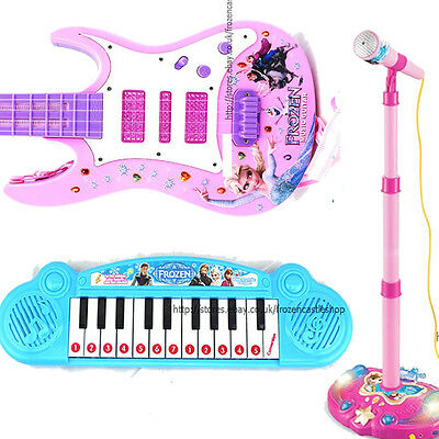 KIDS Piano Guitar Mic Microphone MUSICAL INSTRUMENT TOYS Dresses  GIFT