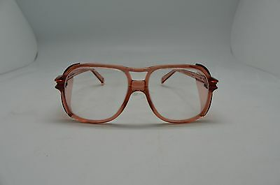 American Optical Safety Glasses 8758 Lens 58 Bridge 19 Red Clear Steampunk