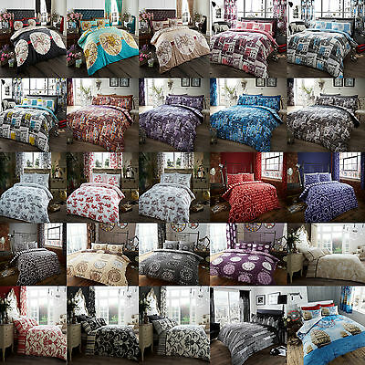 Duvet Quilt Cover Set With Pillow Cases Bedding Set Single Double King New City