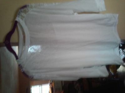 womens white lace shirt size l/xl