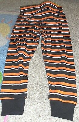 NWT Halloween pajama bottoms boy or girl orange stripe Costume or layering 18 mo