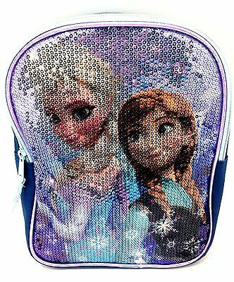 Disney Princess Frozen Queen Elsa Anna Mini Backpack School Bag Spark Sequin Cas