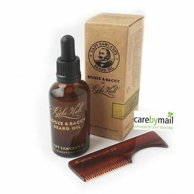Captain Fawcett's Ricki Hall Beard Oil (50ml) + FREE Beard or Moustache Comb
