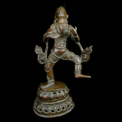 "A Nepalese brass figure of God of Rain ""Vaishyas"". y503"