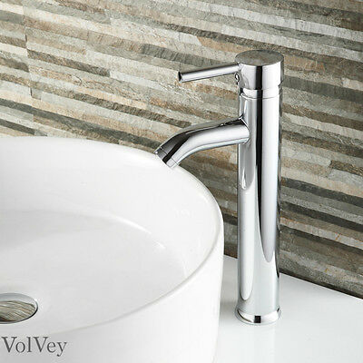 "12"" Chrome Bathroom Sink Faucet Modern Vessel One Hole/Handle Lavatory Mixer Tap"