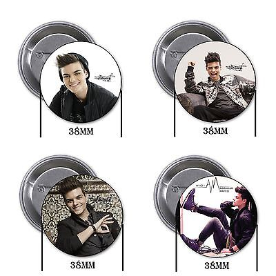 Abraham Mateo - 4 chapas, pin, badge, button, B