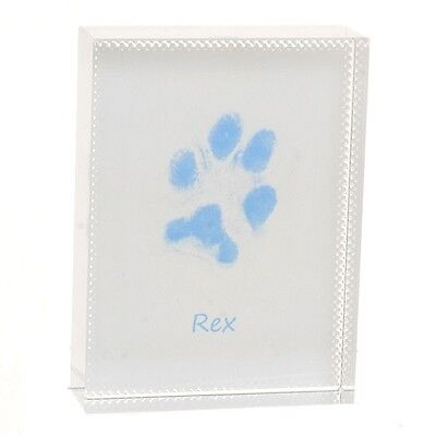 Paw Print Crystal - Dog or Cat Paw Print Keepsake Gift - Ideal for a Pet Lover