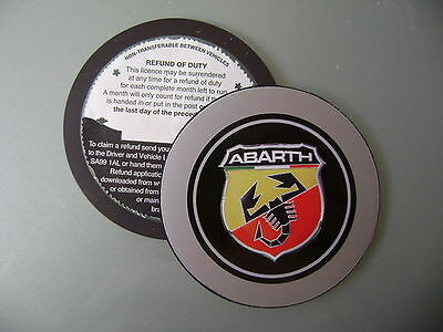 Magnetic Tax disc holder fits any abarth fiat 500 l punto brava seicento bravo a