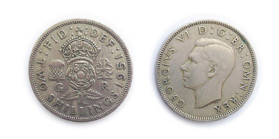 Great Britain Coins 1951 British Florin / Two Bob Bit / 2 Shillings / Circulated