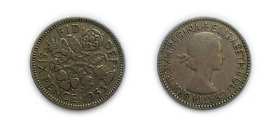 Great Britain Coins 1953 British Sixpence / Six pence 6p / Circulated