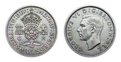 Great Britain Coins 1948 King George VI 2 shillings / Circulated