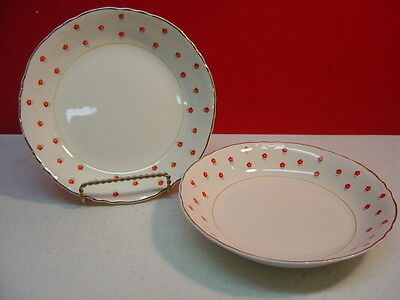 W S George China BLUSHING ROSE Two Cereal Bowls