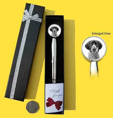 German Shorthaired Pointer Dog Chrome Plated Letter Opener Boxed with Gift Tag