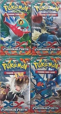 Pokemon TCG XY Furious Fists Factory Sealed Booster Pack Lot x4 - FREE SHIP