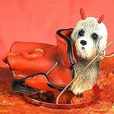 Dandie Dinmont Terrier Devil Dog Holiday Ornament Tiny Ones Statue Figurine NEW