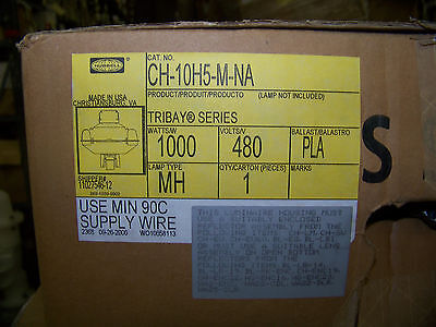 Hubbell Light 1000 Watts 480 V PLA Ballast Lamp Type MH Tribay Series  CH10H5MNA