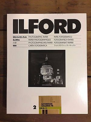 Ilford Gallery Matt 8x10 Grade 2 100 sheets