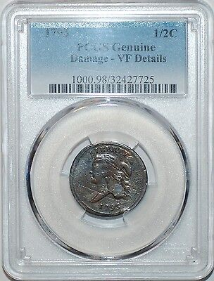 1793 PCGS VF Details Liberty Cap Head Left Bust Half Cent