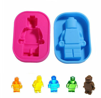 Mini figure Large Brick Silicone Mold Ice Cube Tray Jelly Chocolate Candy Mould