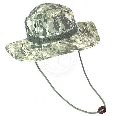 Mil Spec Plus Military Hunting Ripstop Cotton Boonie Hat Army Digital Size 7