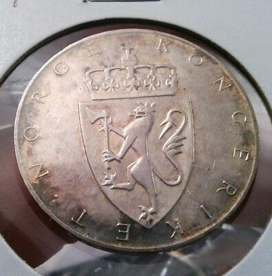 Norway 10 Kroner, 1964, Constitution sesquicentennial Circulated Coin