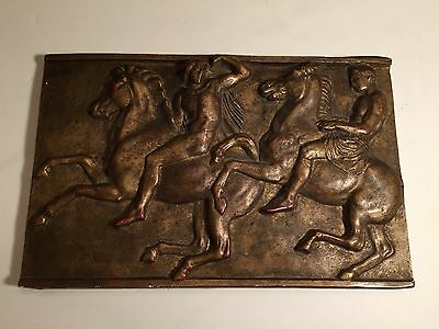 Warriors Greco-Roman Wall Sculpture Art Plaque! Stunning 17x11