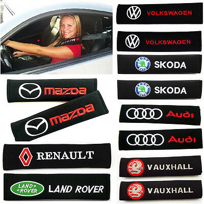 1 PAIR 2pcs Car Logo Seat Belt Pads Shoulder Cushion Covers - 7 Types of Choice