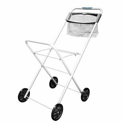 Hills Premium Laundry Trolley With Peg Basket Laundry Washing Clothes Cart