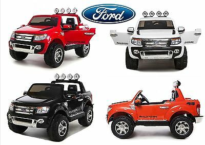 Auto Elettrica Per Bambini Ford Ranger Pick Up 12V Full Optional Usb Micro Sd