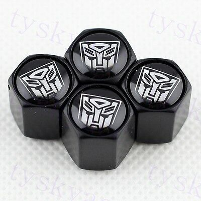 Black Styling Tire Tyre Valve Stem Air Caps For Transformers Autobot Accessories