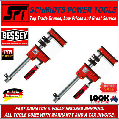 2x BESSEY K BODY REVO CLAMPS 600x95mm KRE60-2K QUICK ACTION PARALLEL JAWS - NEW