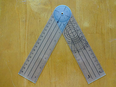 """Brand New 8""""Inches 360 Degree Spinal Goniometer Ruler US Seller"""