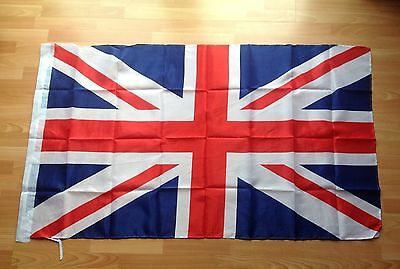 Union Jack Flag 5X3 Ft Packed Ties  For Hanging Team Gb